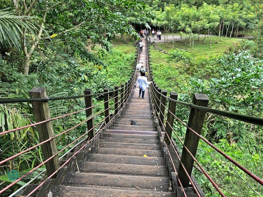 sentiero storico di Caoling ponte sospeso