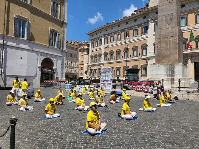 Manifestazione del 21 luglio a Montecitorio