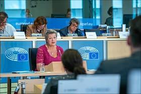 La commissaria europea degli affari interni Ylva Yohansson