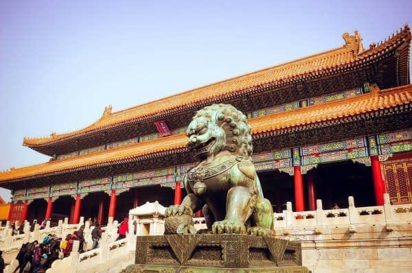 leone statua tempio Città Proibita
