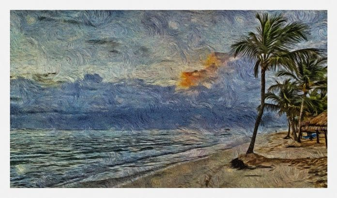 spiaggia dipinto