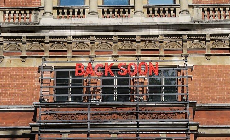 Royal Court Theater, Chelsea Londra, Regno Unito durante il lockdown