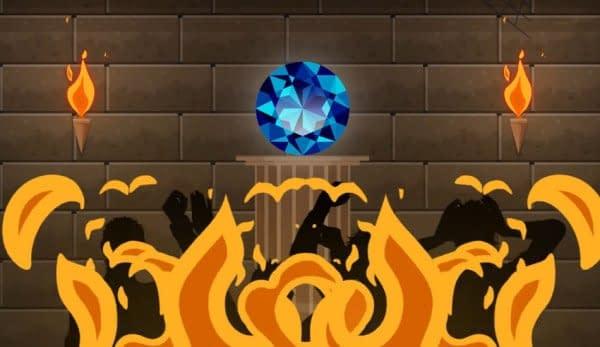 diamante della speranza fuoco