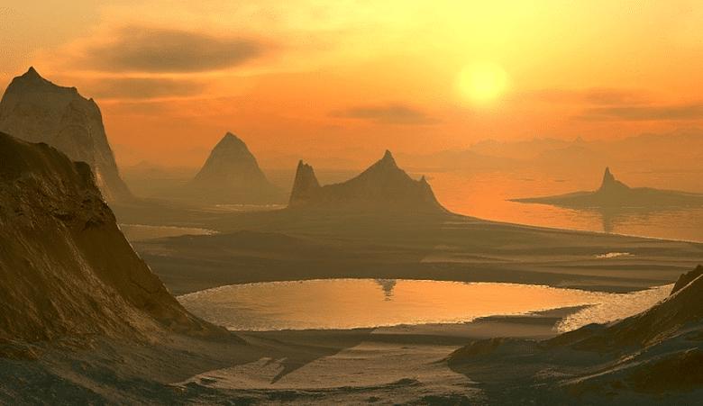 cuore lago tramonto monti