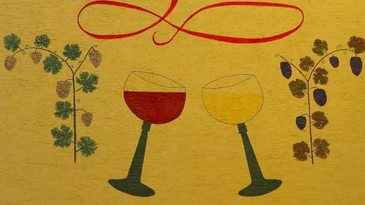 vino uva calici