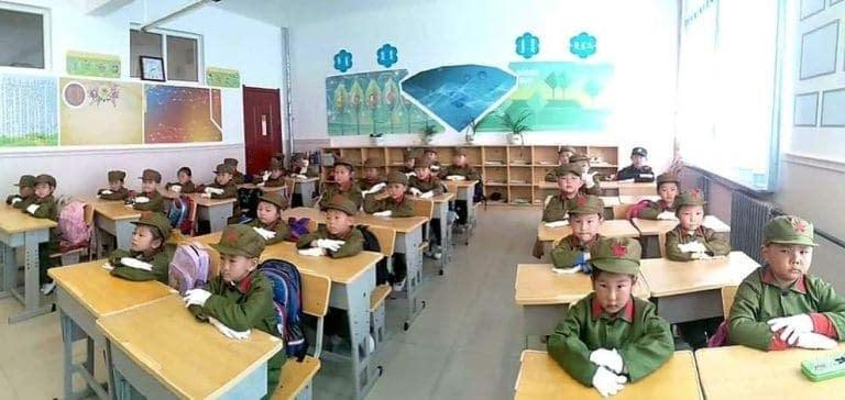 scuola elementare mongola insegnamento identità cinese