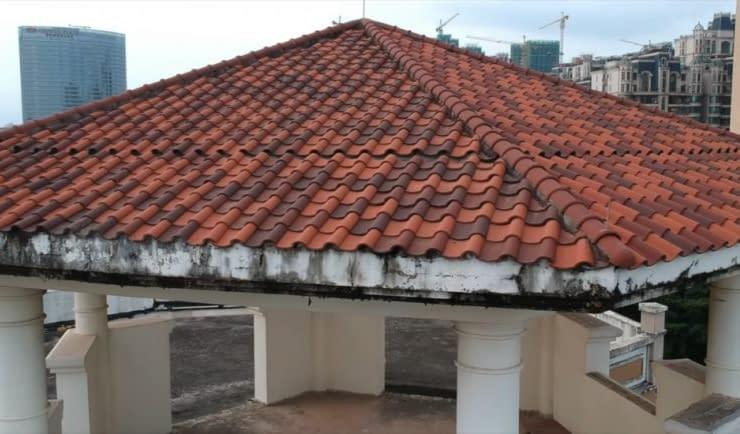 edifici di tofu tetto tegole