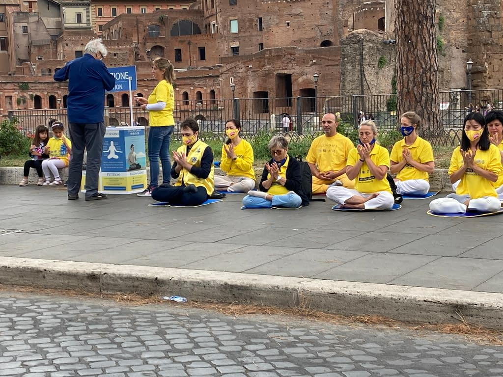persecuzione Falun Gong Roma