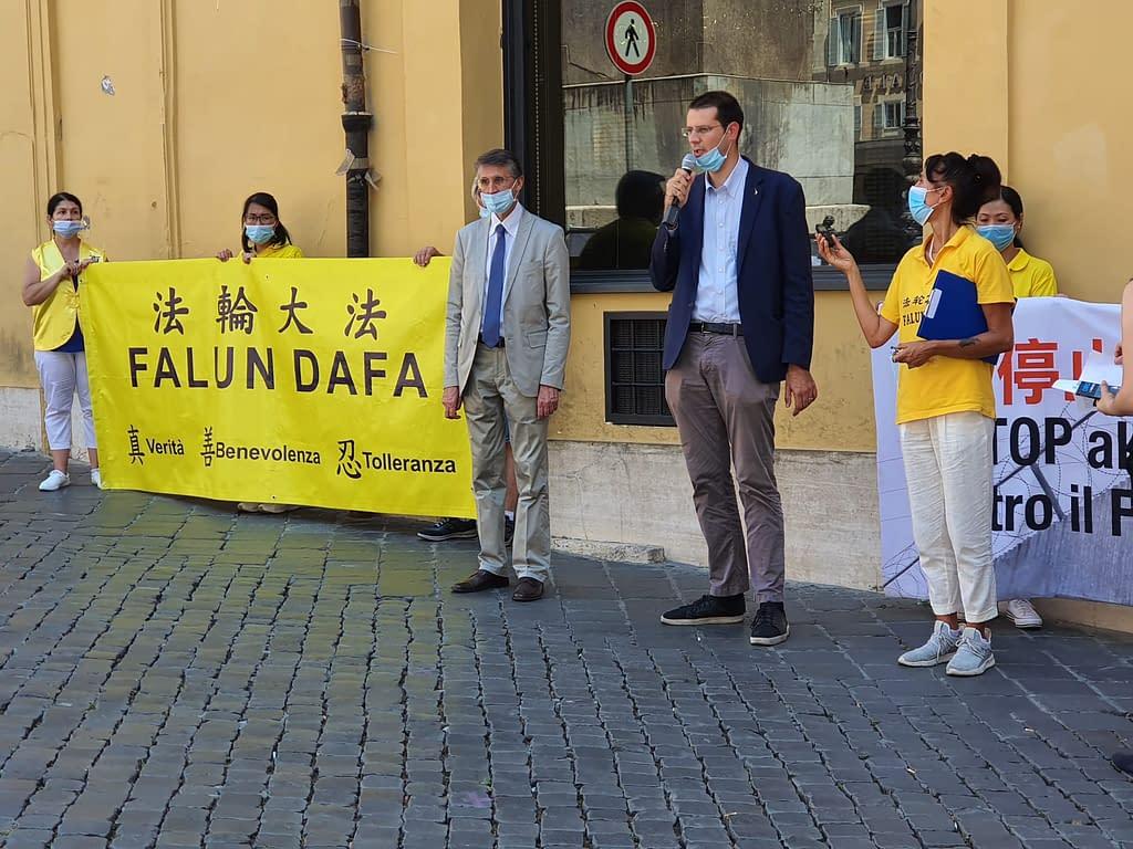 manifestazioe a Montecitorio 20 luglio 2020