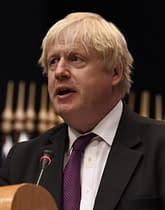 Primo ministro inglese Boris Johnson