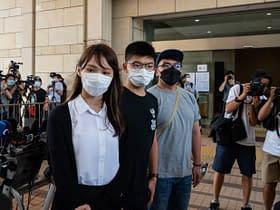 Hong Kong attivisti filodemocratici Chow, Wong e Lam