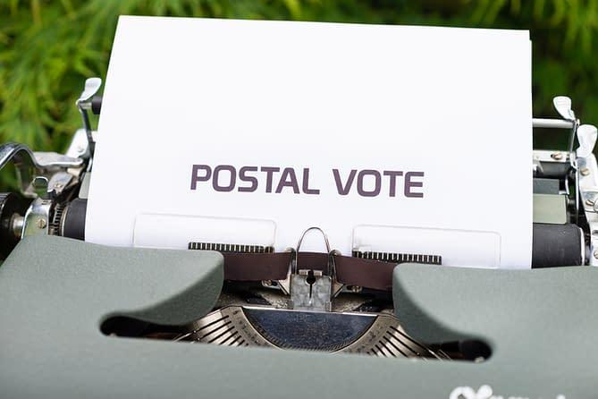 macchina da scrivere voto postale