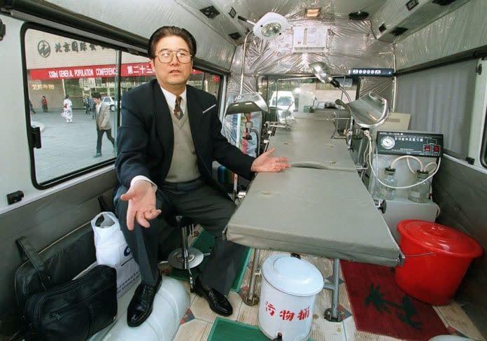 Zhou Zhengxiang furgone mobile per l'aborto