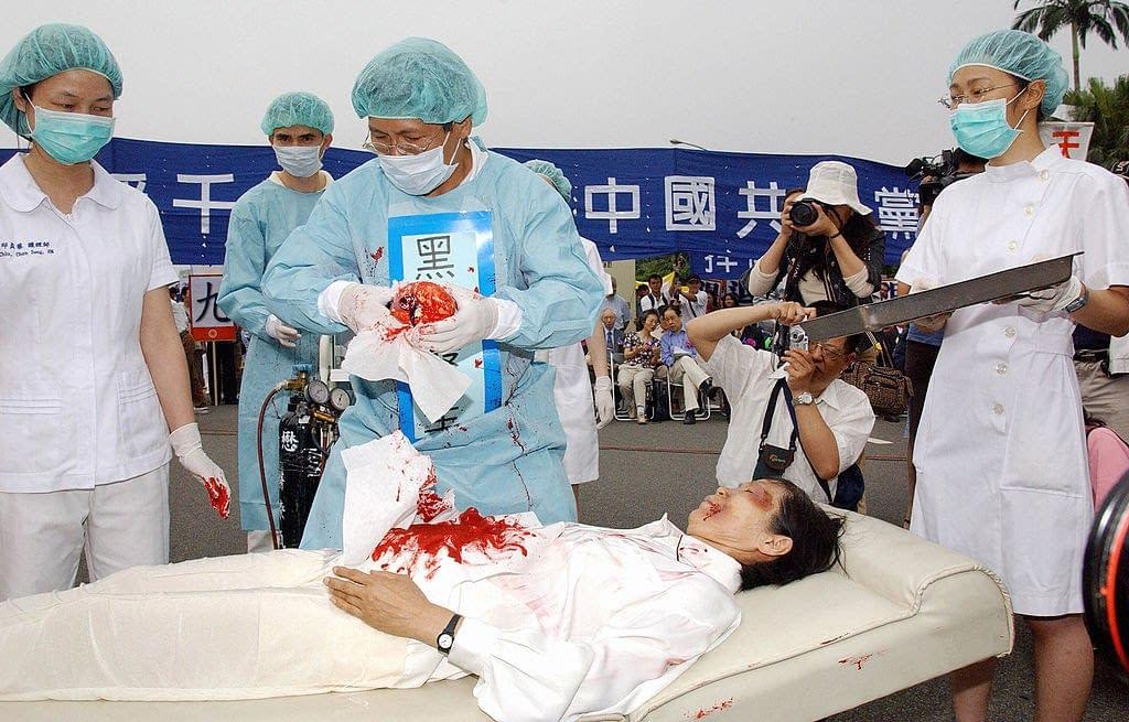 simulazione persecuzione praticanti del Falun Gong
