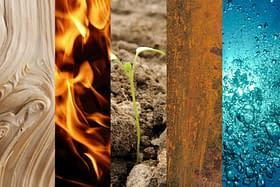 5 elementi legno fuoco terra metallo acqua