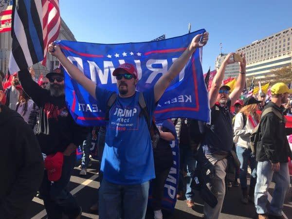 manifestazione Trump