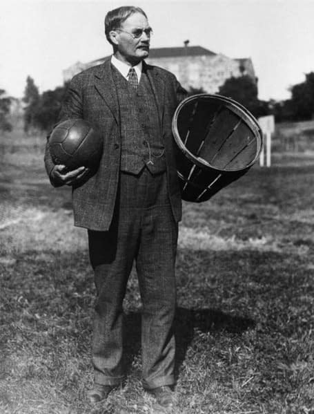 James Naismith pallone cesto vimini