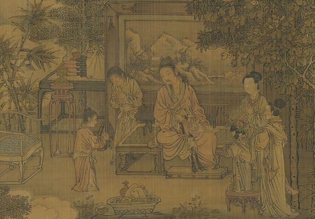 virtù della pietà filiale dipinto dinastia Yuan