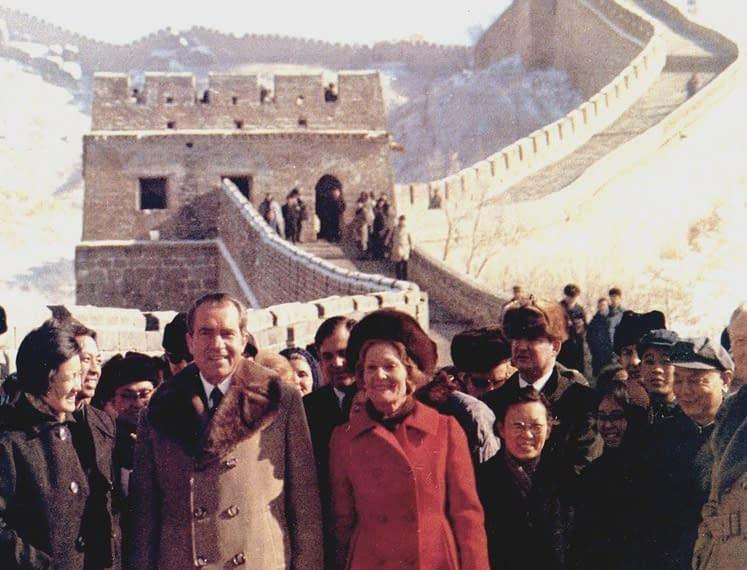Nixon visita muraglia cinese