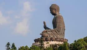 Buddha Lantou statua pregare