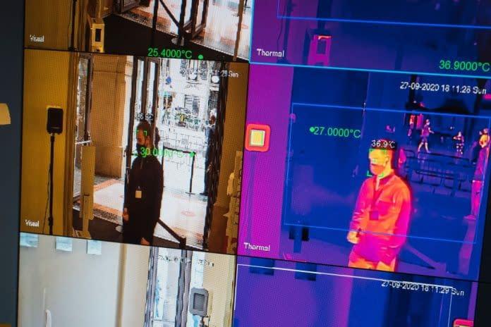 immagini termiche davanti allo scanner