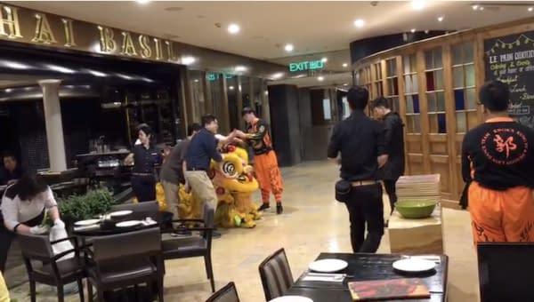 danza del leone nuovo anno cinese
