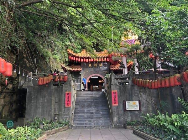 entrata grotta Taiwan lanterne