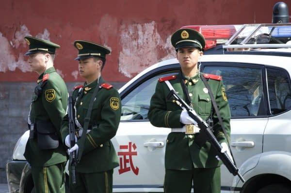 polizia cinese auto