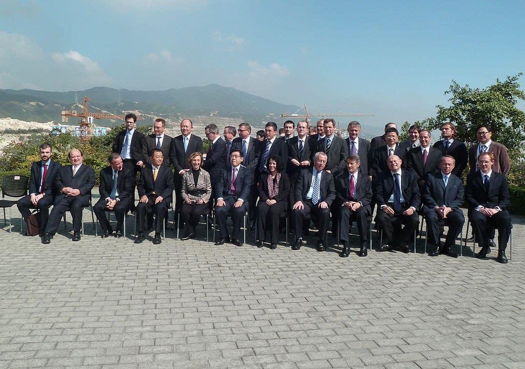 Gruppo di funzionari del Partito Comunista francese e cinese