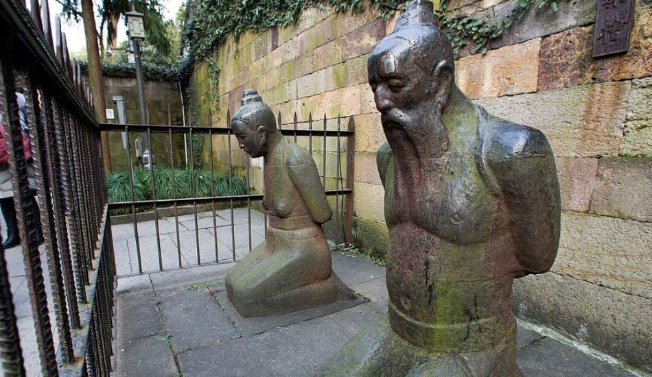 statue pietra Cina