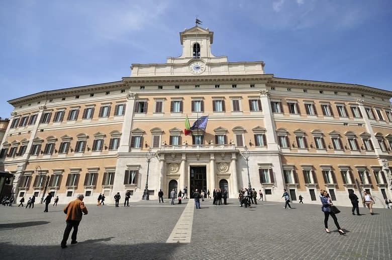 la sede del Parlamento Italiano a Montecitorio