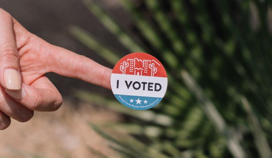 elezioni USA 2020 adesivo Ho votato